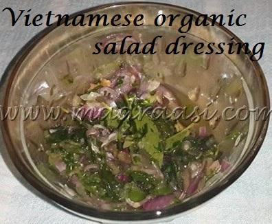 Vietnamese organic salad dressing