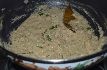 Coconut paste about to brown