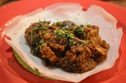 Appam with Mangalore ghee Roast