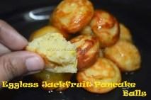 Eggless Jackfruit Pancake Balls