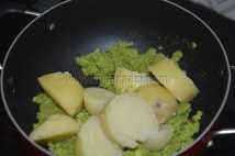 With boiled potatoes