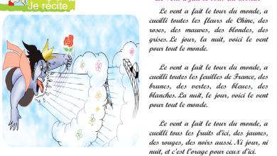 Photo of Poème le vent a fait le tour du monde livre de lecture 6 ème