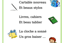 Photo of Poème- chanson c'est la rentrée