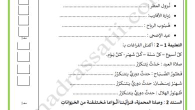 Photo of اختبار في مادة الايقاظ العلمي السنة الثالثة السداسي الأول