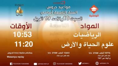Photo of مواعيد دروس القناة الوطنية التربوية ليوم السبت 18 و الأحد 19 أفريل