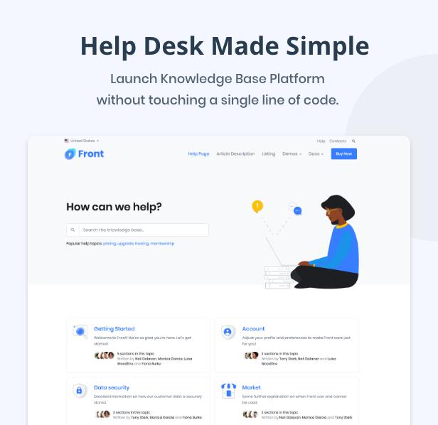 Front -Help Desk