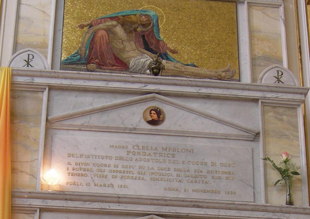 Túmulo de Madre Clélia na Capela da Casa Geral. Imagem: Madreclelia.org