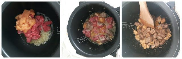Guiso de carne en el robot de cocina moulinex