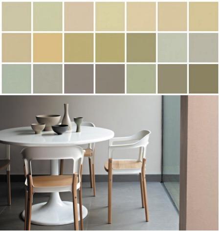 Colores neutrales de pintura