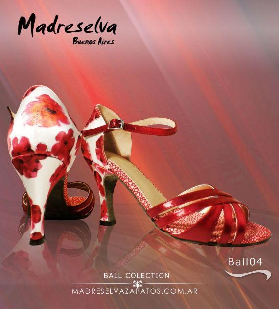 Zapatos de Salsa y Bachata Ball04 Flores