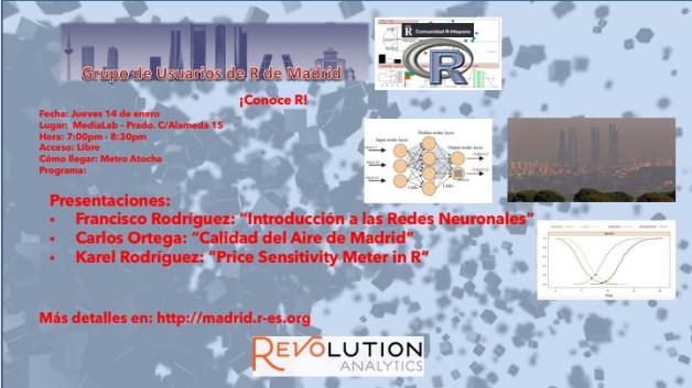 Reunion Grupo Usuarios de R de Madrid - 2016-Ene-14 - V1.0