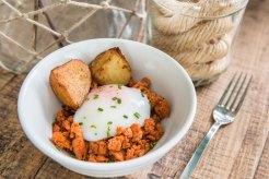 Huevos, cachelos asados y zorza en Atlántico Casa de Petiscos