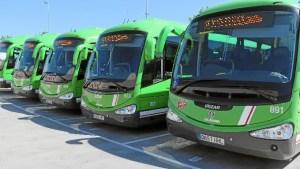 Los 103 autobuses de 19 líneas interurbanas y 3 urbanas, darán servicio a 14 municipios.