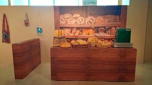 Recreación de una panadería propia de las décadas de los 70 y 80.