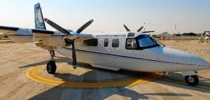 El vuelo se ha realizado con un modelo de avión