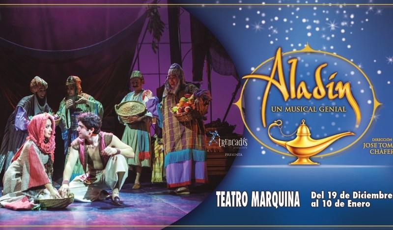 ALADÍN UN MUSICAL GENIAL en el Teatro Marquina de Madrid