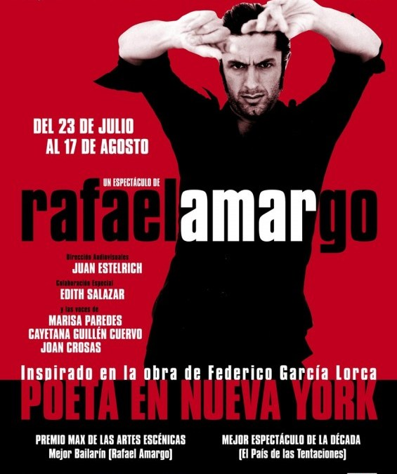 POETA EN NUEVA YORK, Rafael Amargo en el Teatro Compac Gran Vía