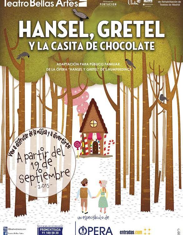 ANSEL Y GRETEL Y LA CASITA DE CHOCOLATE en el Teatro Bellas Artes