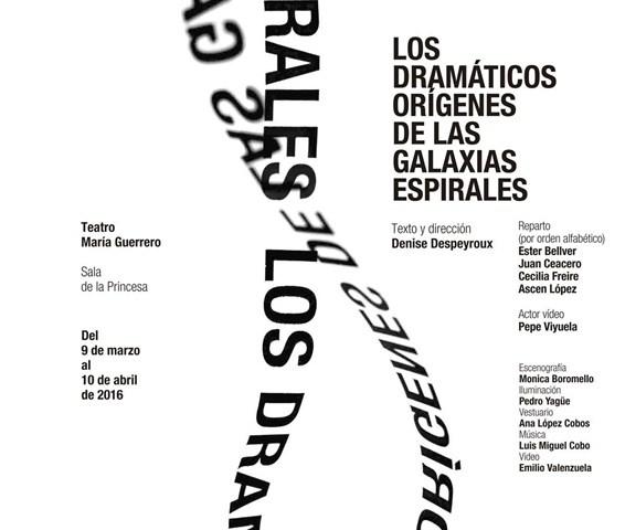 LOS DRAMÁTICOS ORÍGENES DE LAS GALAXIAS ESPIRALES en el Teatro María Guerrero