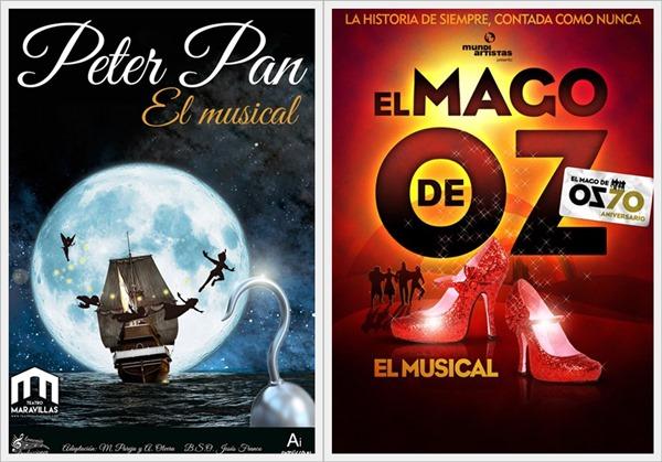 EL MAGO DE OZ, EL MUSICAL y PETER PAN, EL MUSICAL