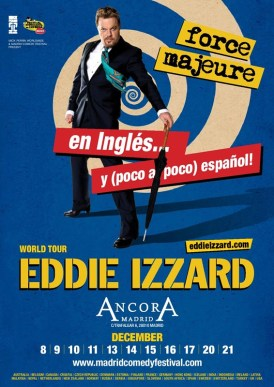 EDDIE IZZARD – FORCE MAJEURE en Ancora Madrid