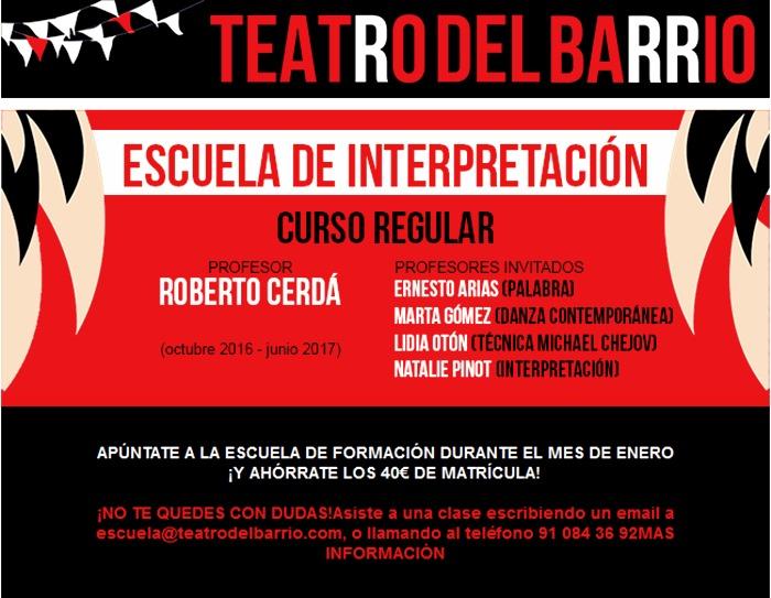 ESCUELA DE INTERPRETACIÓN del Teatro del Barrio