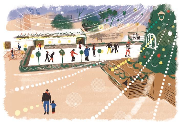 Nueva pista de hielo en la Plaza de Colón