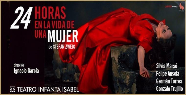 24 HORAS EN LA VIDA DE UNA MUJER en el Teatro Infanta Isabel