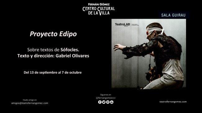 PROYECTO EDIPO en el Teatro Fernán Gómez
