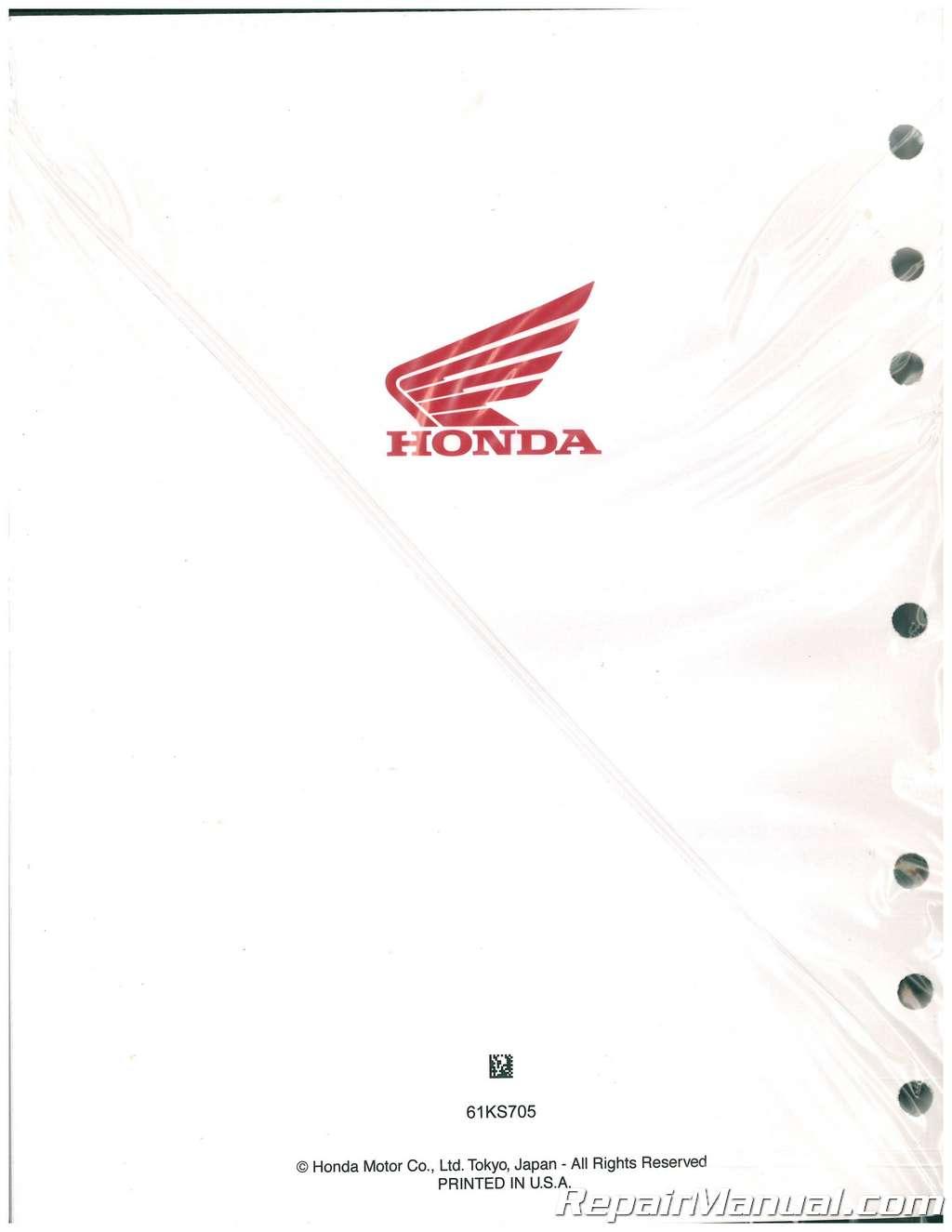 1991 Honda Cr250 Service Manual