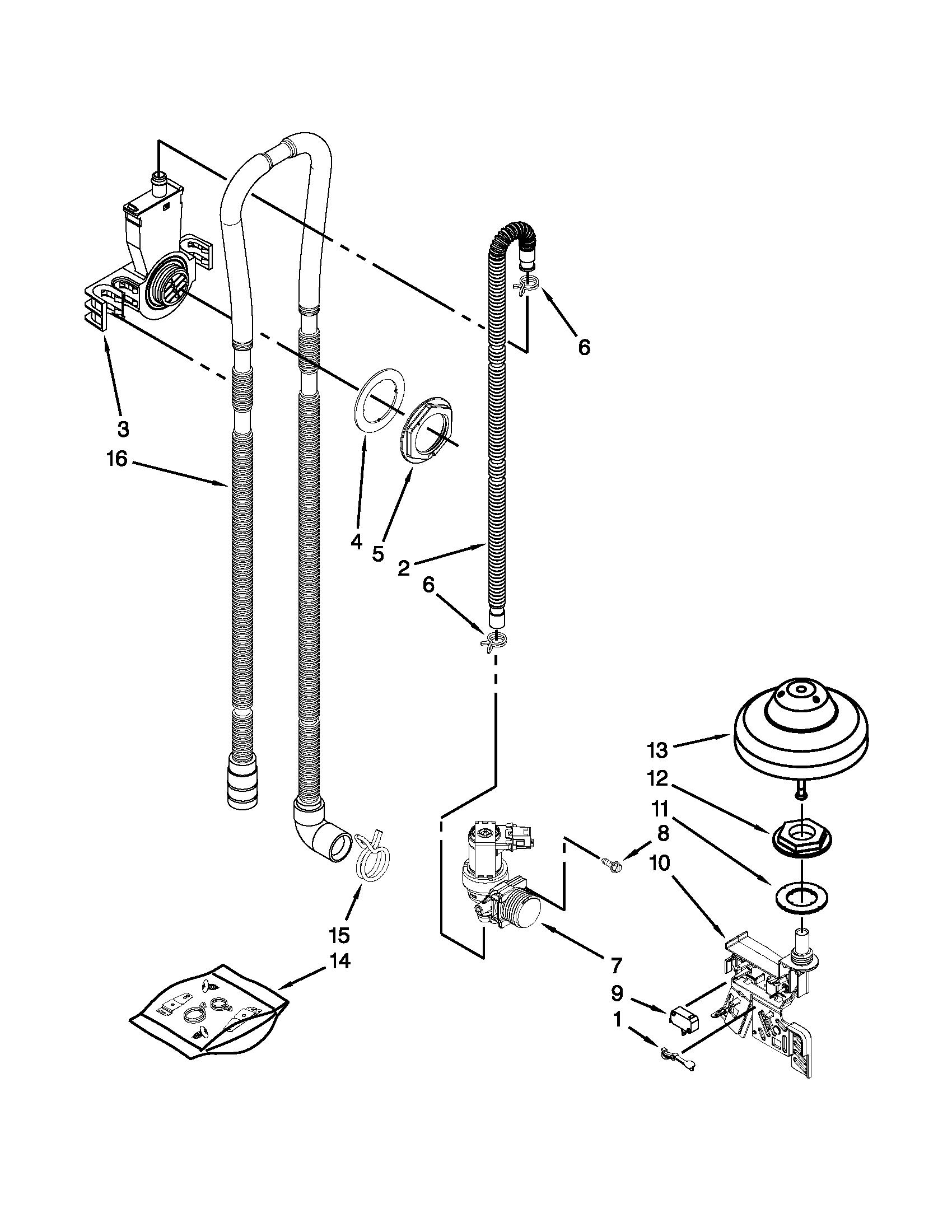 Kenmore Elite Dishwasher 630.1390 Parts Manual
