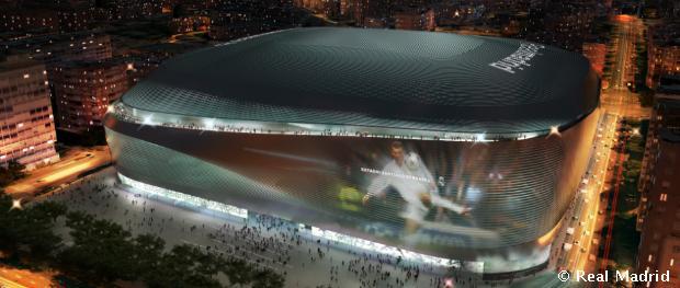 Éjszakai látványterv az új stadionról