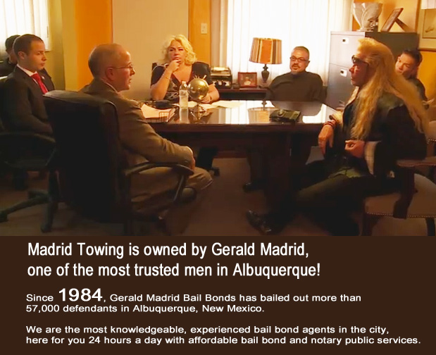 Gerald-Madrid-Towing-with-Dog-the-Bounty-Hunter Madrid Auto Wrecker Truck Car Towing roadside assistance jump starts