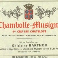 Barthod Chambolle Musigny Chatelots
