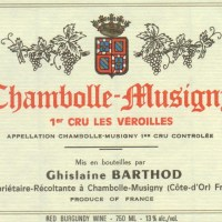 Barthod Chambolle Musigny Veroilles