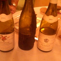 Dinner wines chez Jean-Marc Morey (Oct 2011)