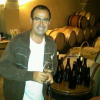 Jean-Marc Pillot in the cellar
