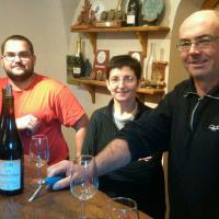 Pascal, Marie-Agnes and Jean-Philippe Granger (r to l)
