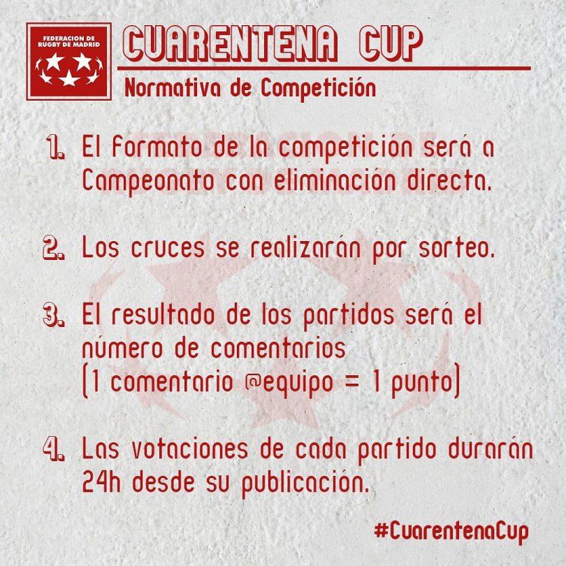 Entérate de las reglas de la #CuarentenaCup de la FRM