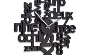 Lingua Wall Clock by Umbra
