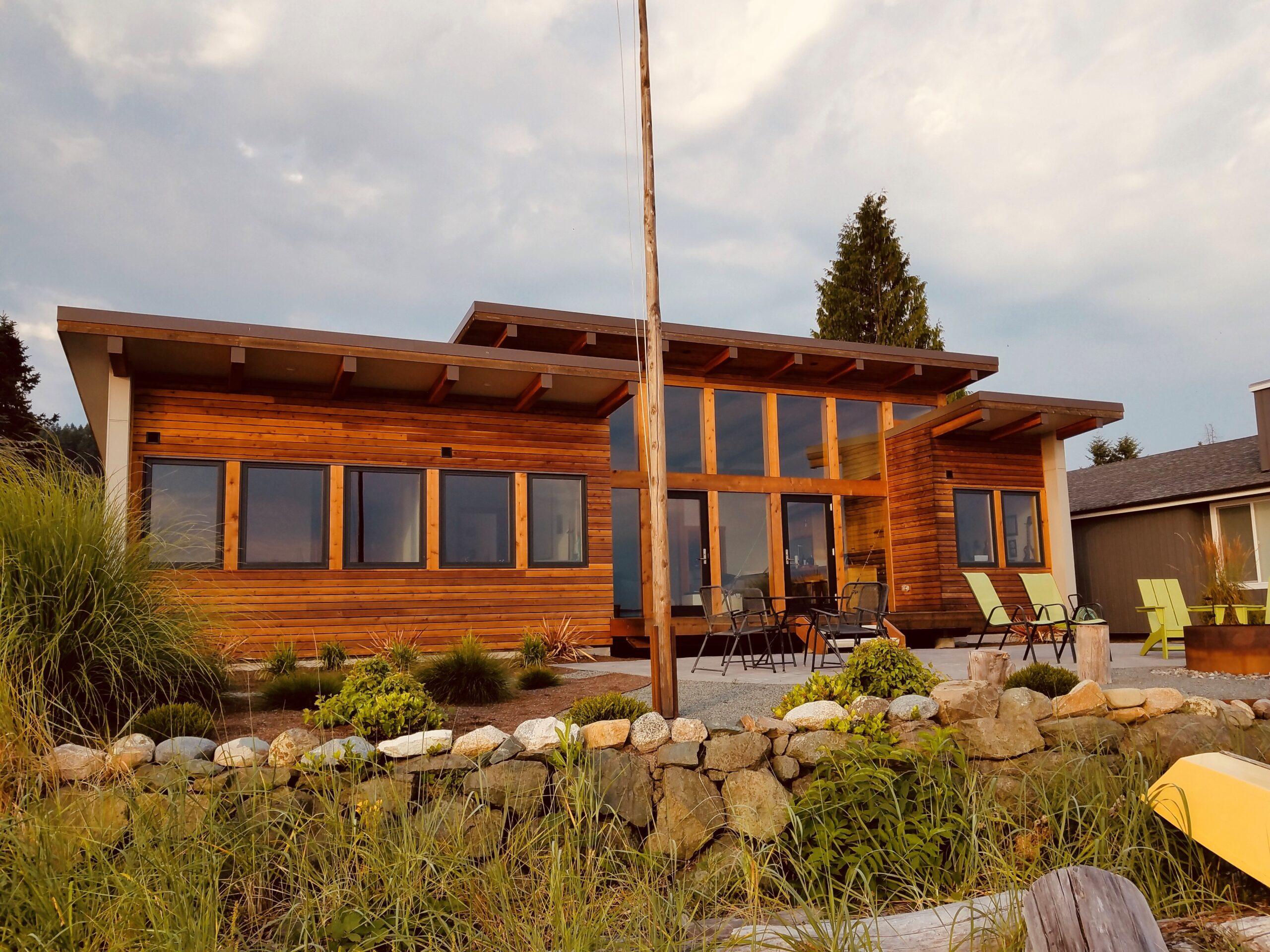Josh Architecture Whidbey Island Modern Beach Cabin