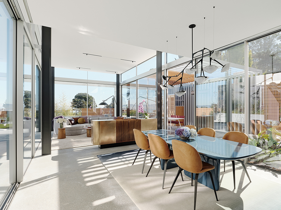 Fougeron Architecture modern dining and living room
