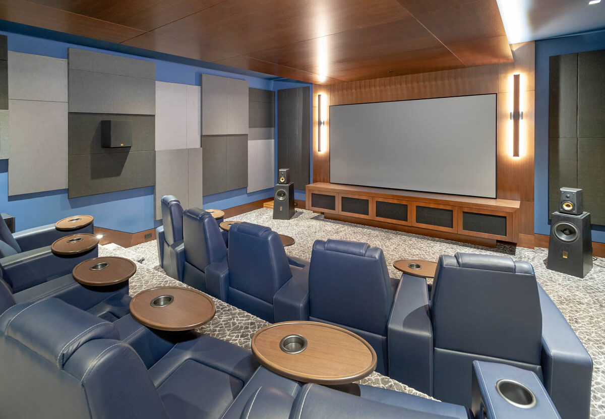Madeleine Design Group Ocean Home Theater