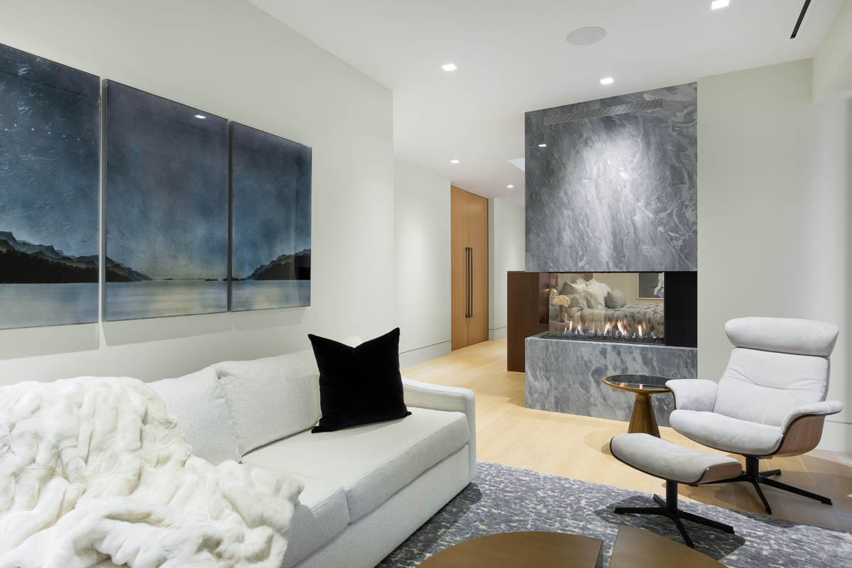 Madeleine Design Group Ocean Master Bedroom Sitting Area