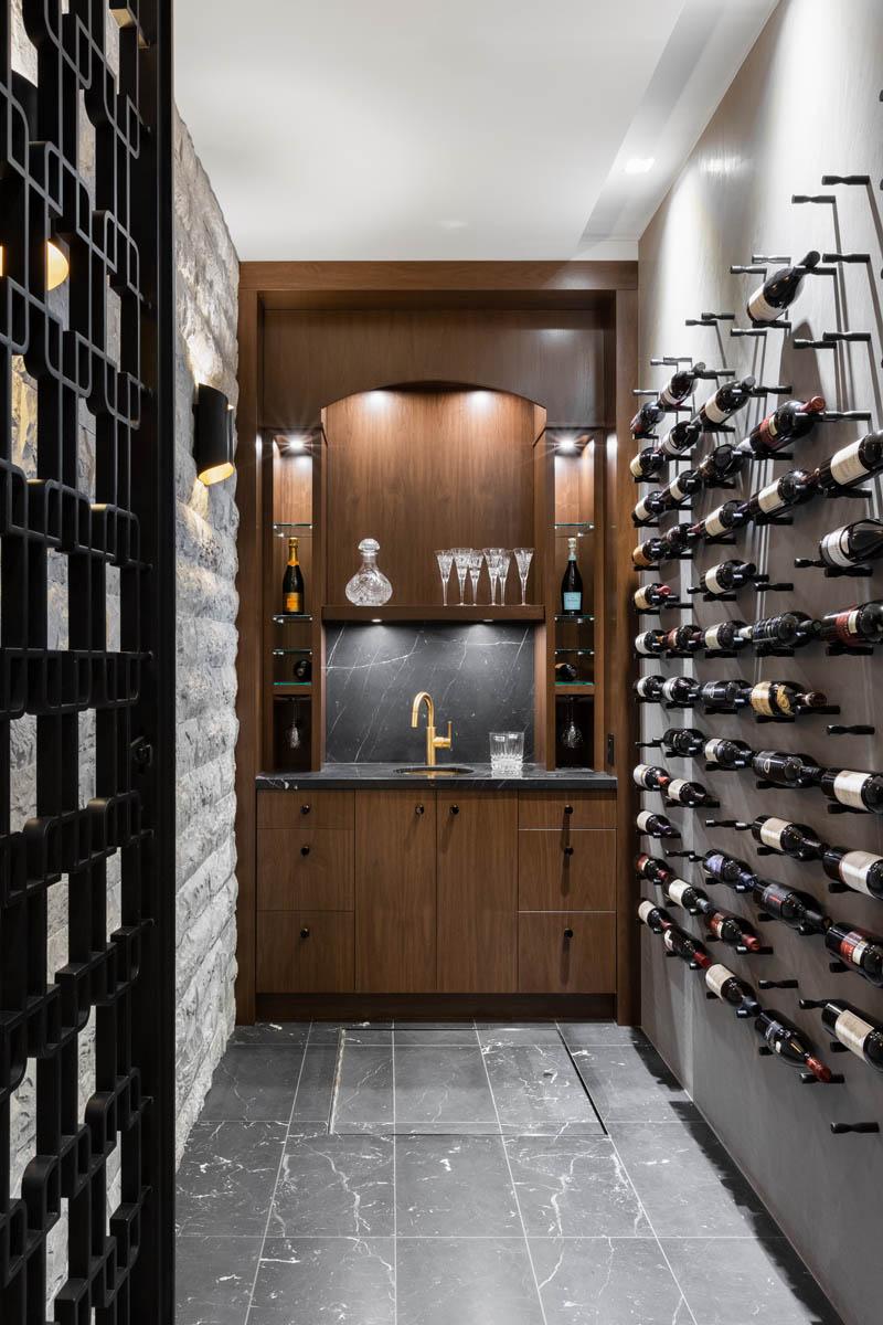 Madeleine Design Group Ocean Bluff Wine Room