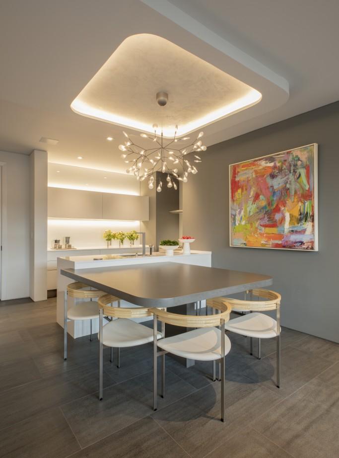 FORMA Design kitchen/dining, custom ceiling design