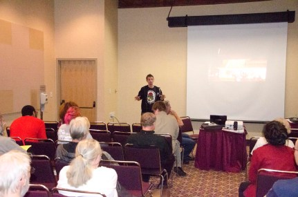 Daniel Hanley helped lead a workshop with Jim Skillman on the Fight for $15