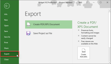 Microsoft Project - How To Navigate The File Tab | Mad Schedules