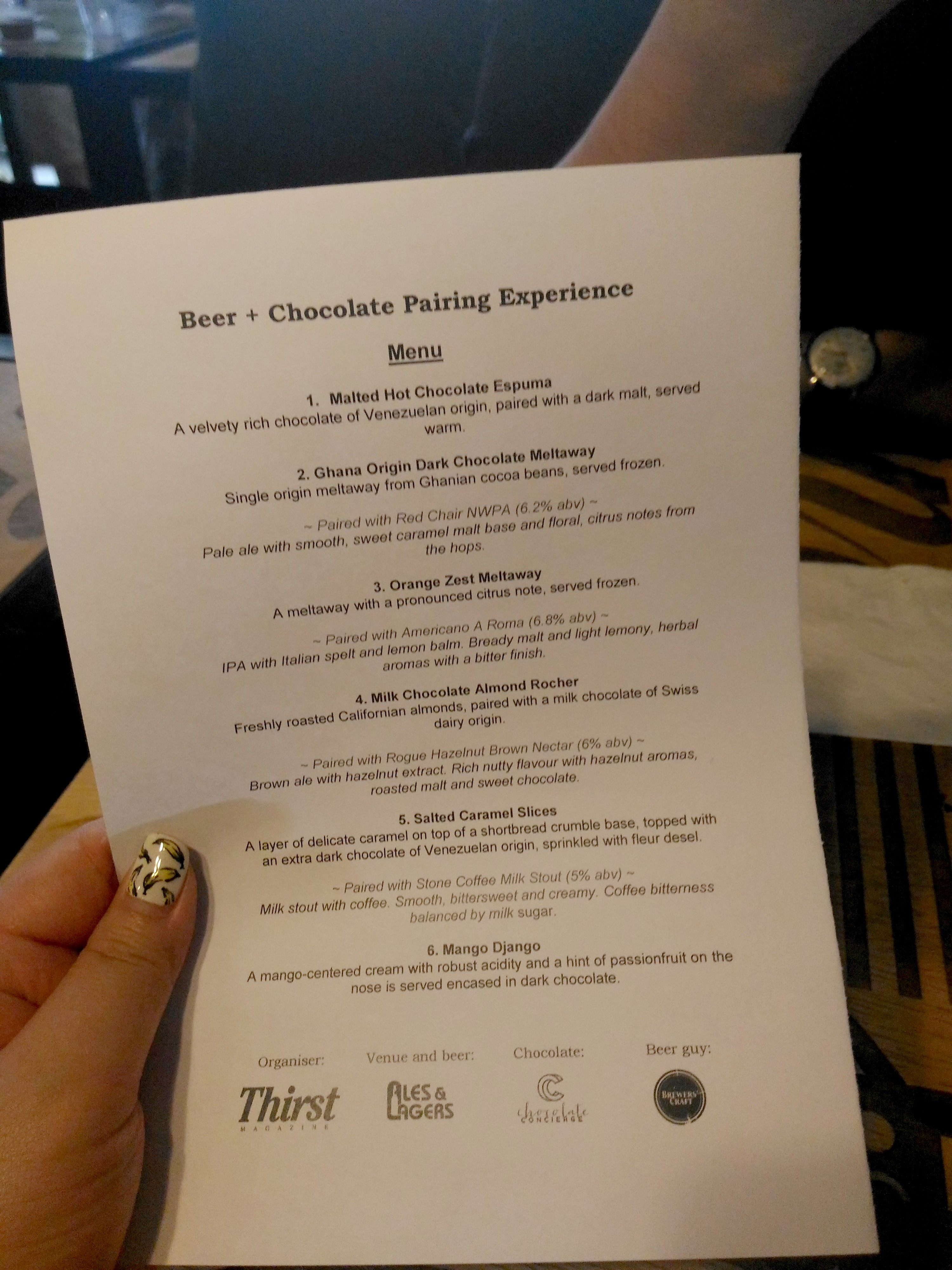 red chair nwpa abv houston office chairs thirst magazine presents beer 43 chocolate pairing ales