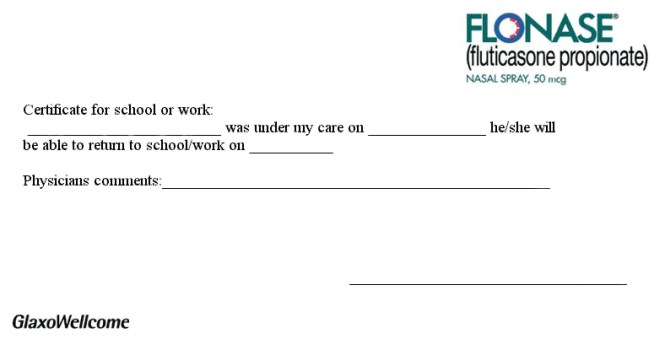 doctor excuse letter for work